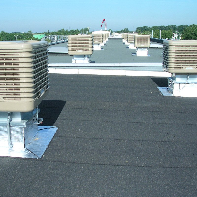 Evaporative Cooling External EcoCooler on roof of building