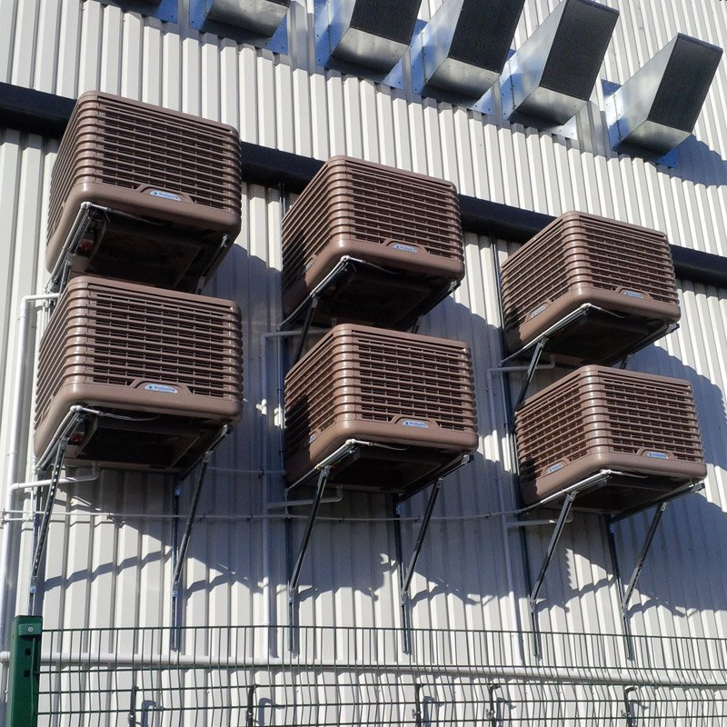 Evaporative Cooling External EcoCooler on exterior of building