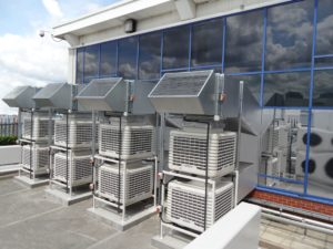 Side flow EcoCoolers - energy efficient evaporative cooling from SMARTech Heating & Cooling