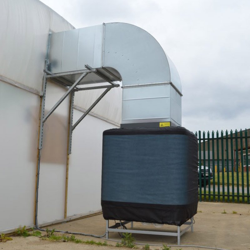 Evaporative Cooling External EcoCooler fitted on warehouse