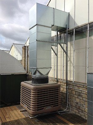 Whitehall Garden Centre evaporative cooling system from SMARTech Heating & Cooling