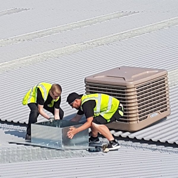 Herman Miller evaporative cooling system installed by SMARTech Cooling