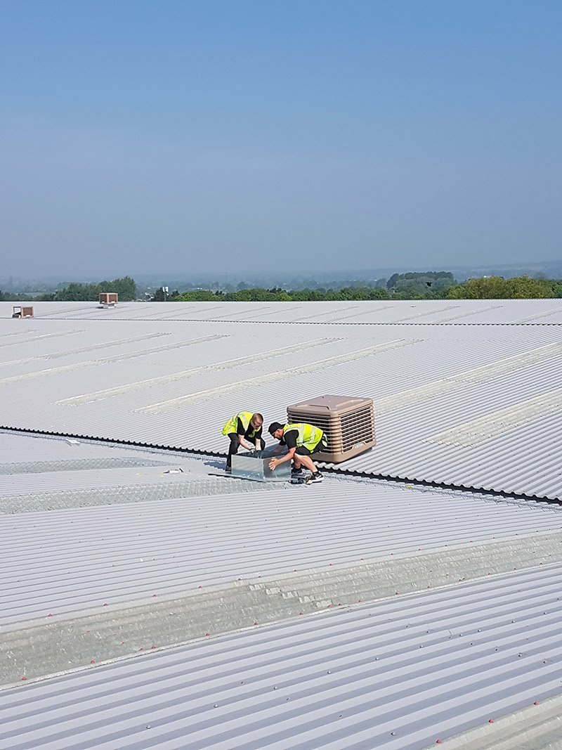 SMARTech Heating & Cooling install Evaporative Cooling System for Herman Miller